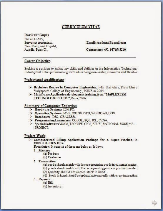 How write a cv sample template example of excellent cv resume how write a cv sample template example of excellent cv resume curriculum vitae with career objective work experience for computer engineer cv freshers maxwellsz