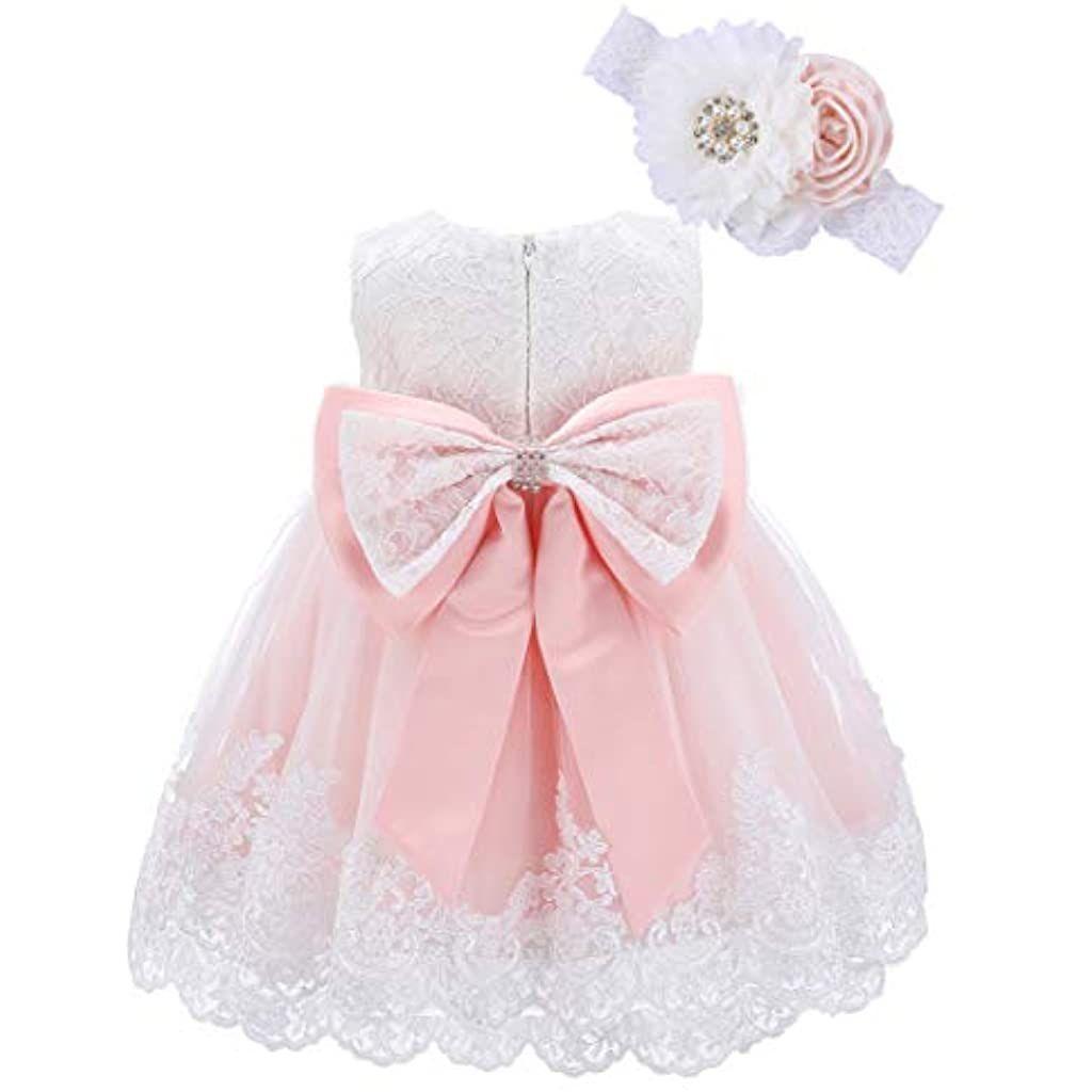 Bow Dream Baby Madchen 0 24 Monate Kleider Prinzessin Hochzeit 2pcs Spitze Schuhe Hut Bekleidung Baby M In 2020 Prinzessin Hochzeit Baby Madchen Blumenmadchen Kleid