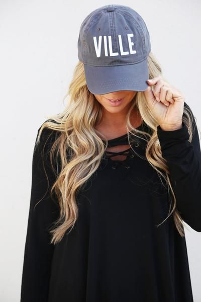 New Made to Order Monogrammed Distressed Look Black//Charcoal Gray Trucker Cap