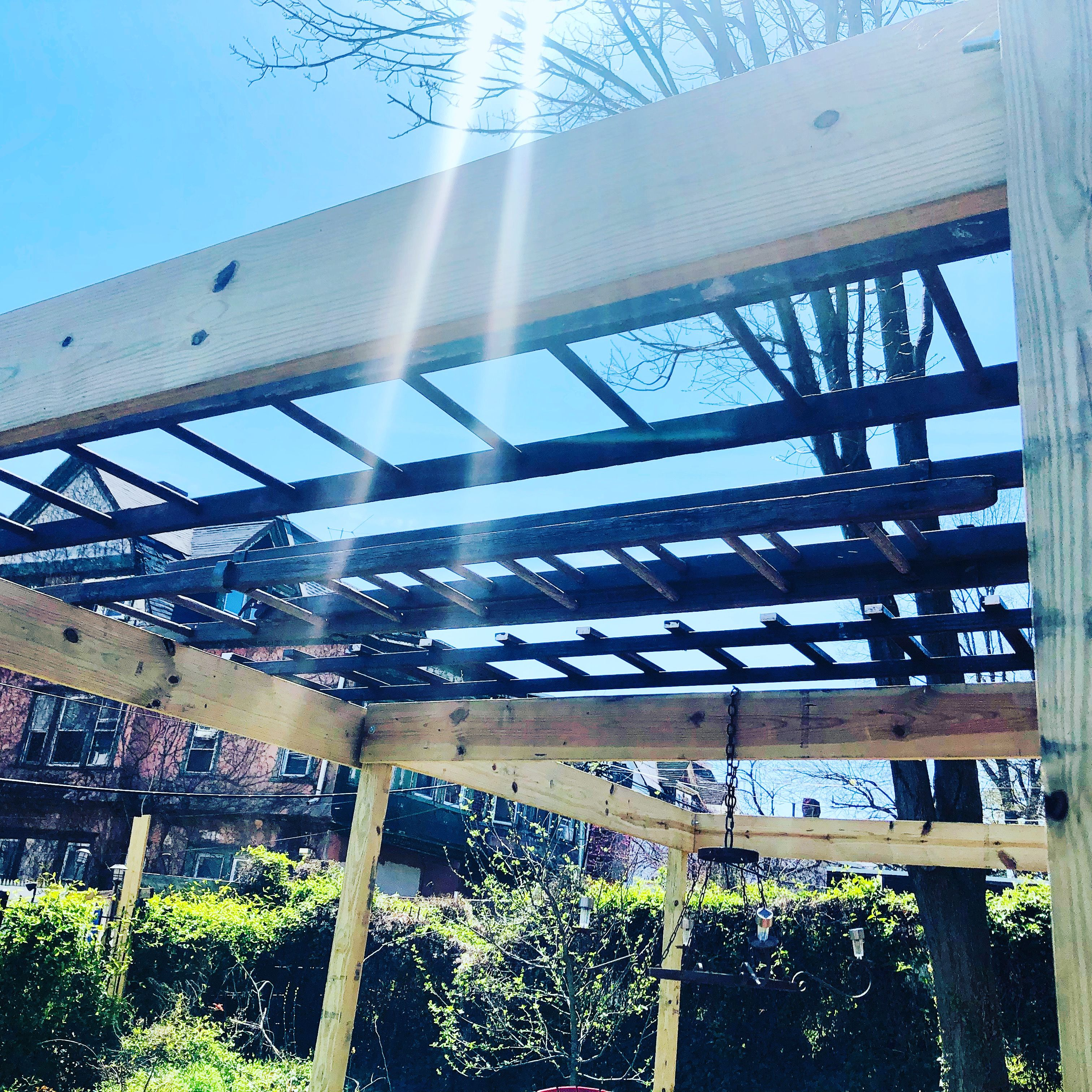 Antique Wood Ladders Pergola Roofing In 2020 How To Antique Wood American Castles Pergola With Roof