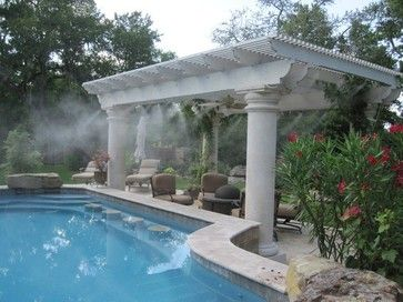 High Pressure Cooler For Your Swimming Pool Swimming Pools And Spas Richmond By Mist Cooling Patio Misting System Outdoor Misting Systems Outdoor