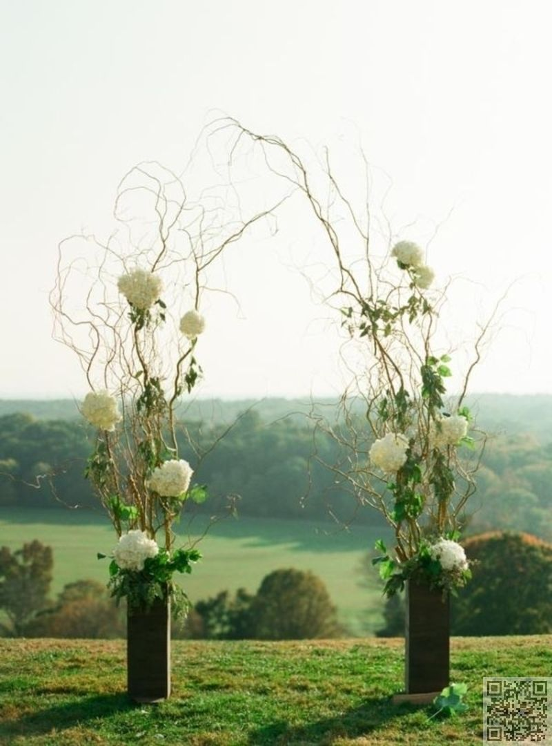 branch and hydrangea wedding arch wedding arches arbors