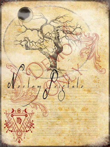 Book Of Shadows Cover Diy : Noctum pristato spell page grimoire covers and books