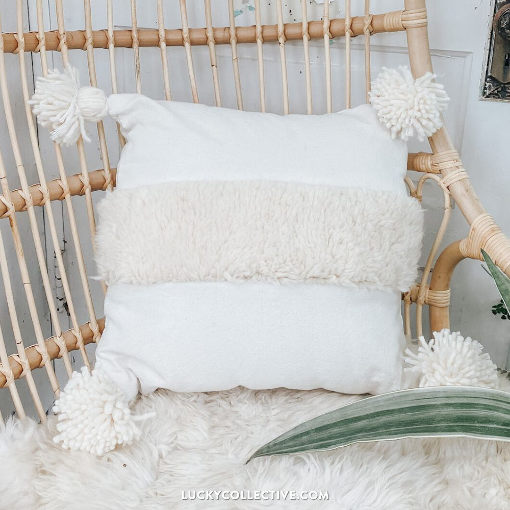 Cozy Moroccan Pillow to add a Boho touch to your house
