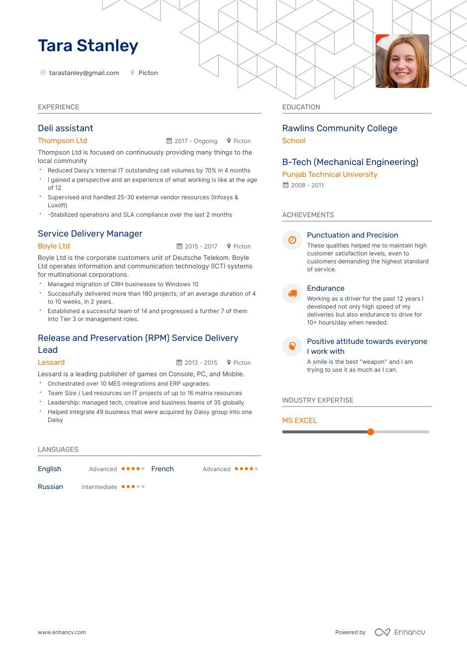 Deli Resume Example And Guide For 2019 Resume Examples Resume Resume Templates