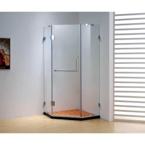 Dreamwerks 36 In X 79 In Frameless Neo Angle Sliding Shower Door In Chrome With Handle Bt6318sc The Home Depot Shower Doors Round Shower Doors Sliding Shower Door