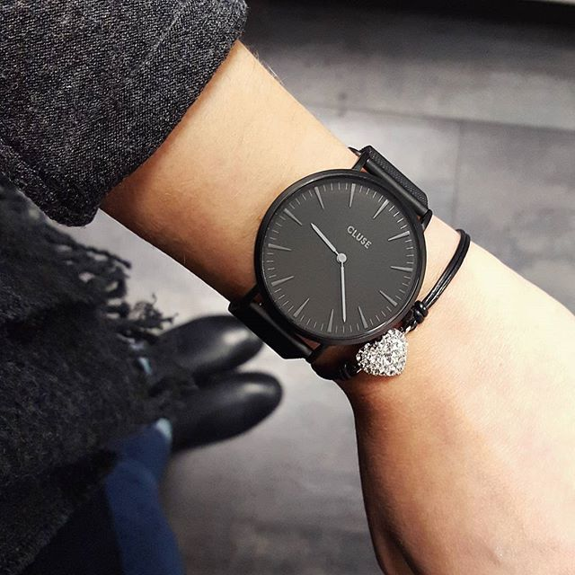 la boh me mesh full black cl18111 montres bijou et montre tendance. Black Bedroom Furniture Sets. Home Design Ideas