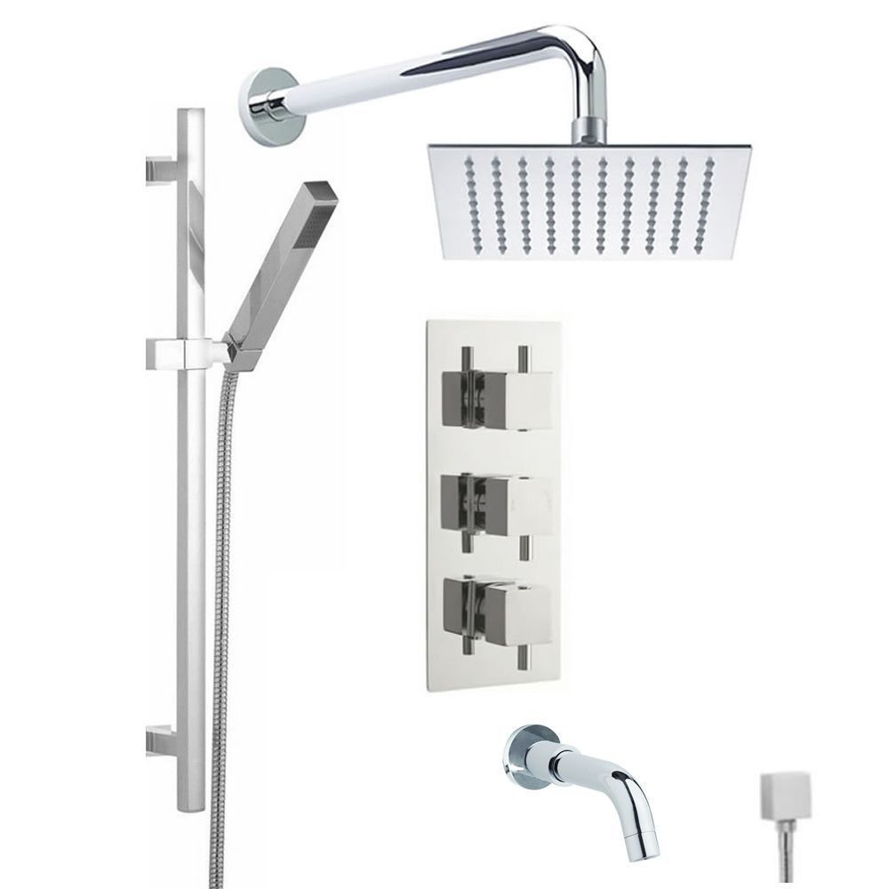 shower system with hand shower and bath tub spout