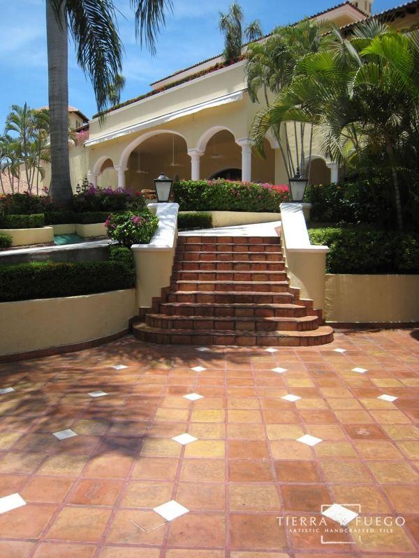 11 5 X 11 5 Unsealed Super Saltillo Round Edges Floor Tile Hacienda Style Tile Floor Terracotta Floor