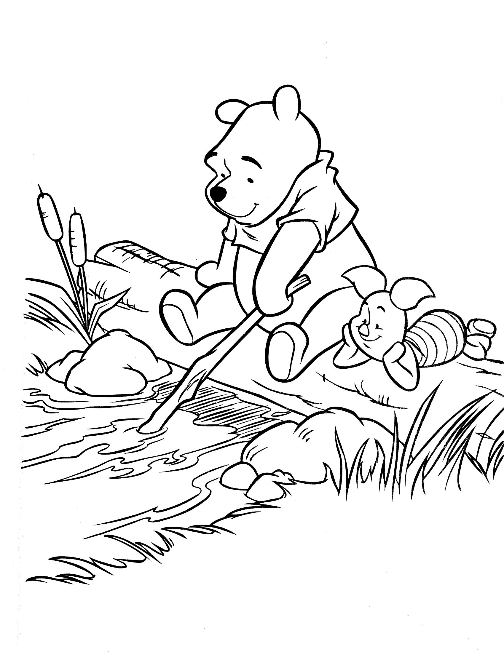 Pooh Coloring Page