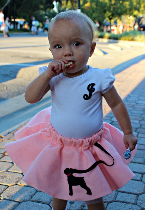 Skirt AND Onesie Custom Infant Toddler Fifties 50s Style Poodle Tutu Costume