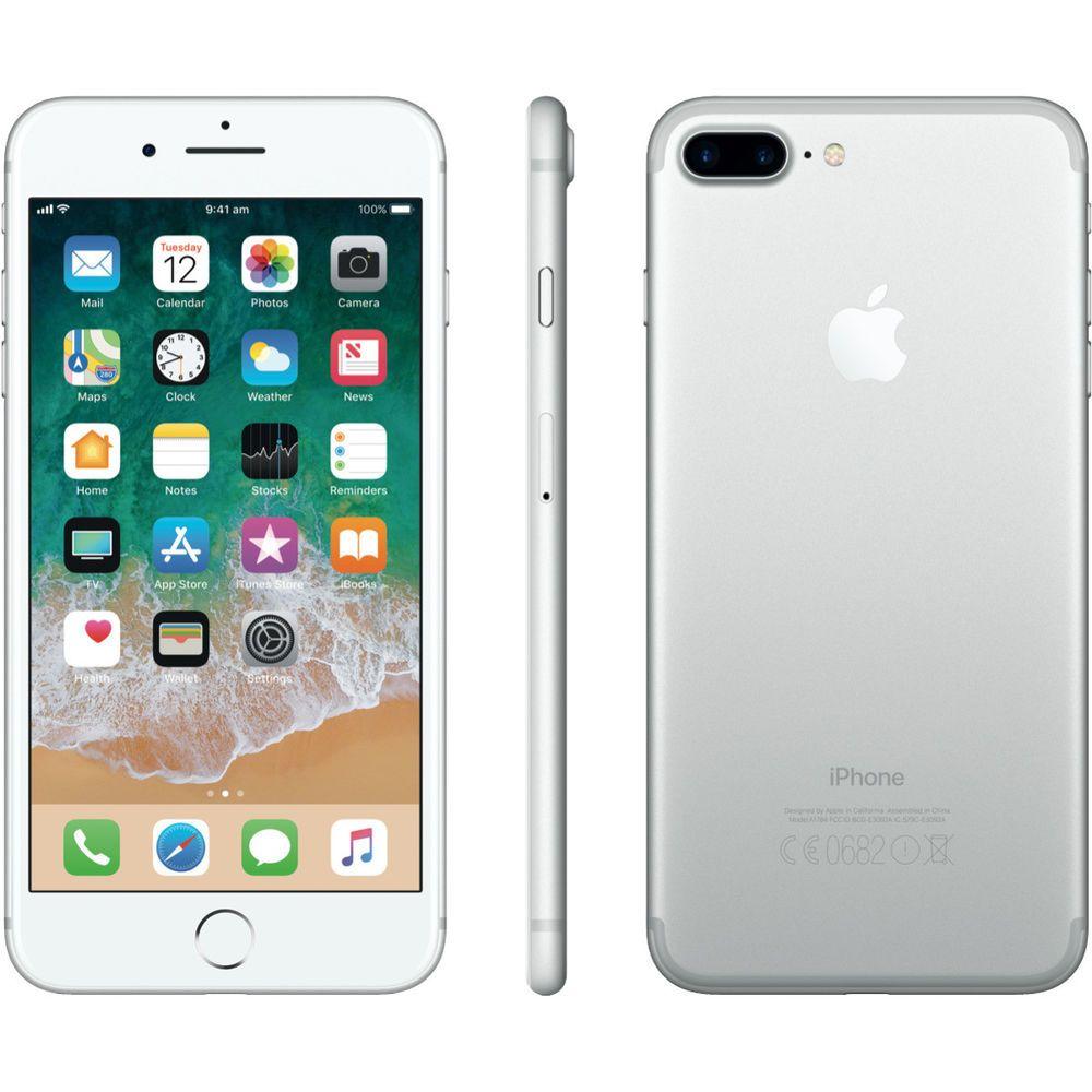 Apple iphone 7 plus 32gb silver att cdma gsm lte cellular