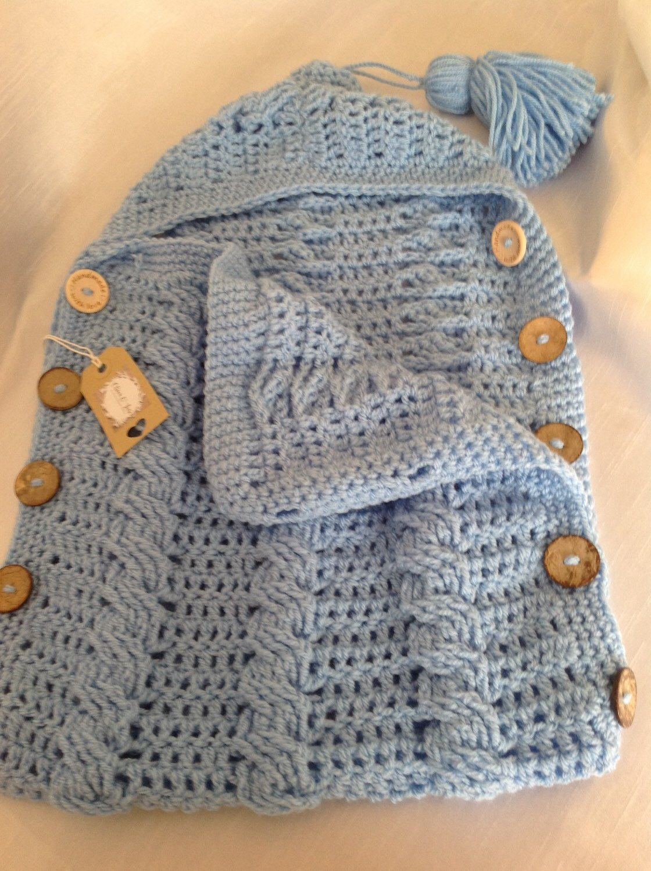Newborn baby sleeping bag / cocoon / sack Cream coloured for boy or ...