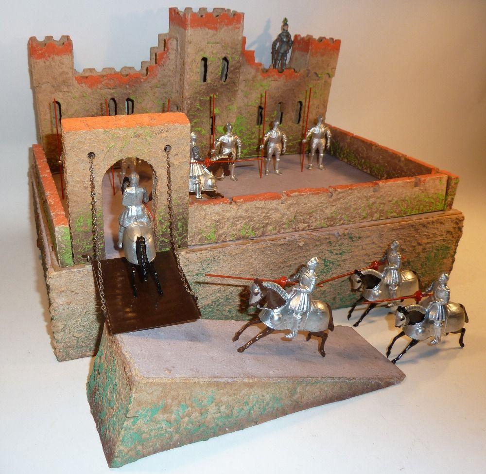 Lot 238 Britains Knights With Castle German Made Wood And Card