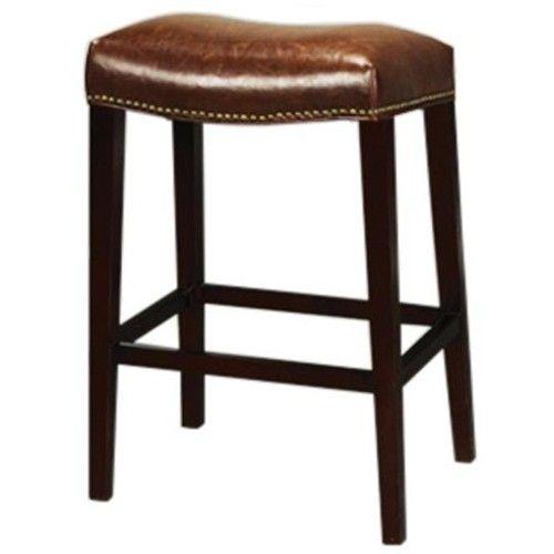 alder u0026 tweed at00 rectangular saddle bar stool with antique saddle leather