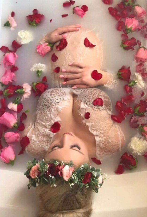Beautiful Milk Bath Photography