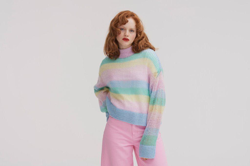 4185df27 Pastel Rainbow Jumper - S in 2019 | Kawaii | Pastel outfit, Rainbow ...