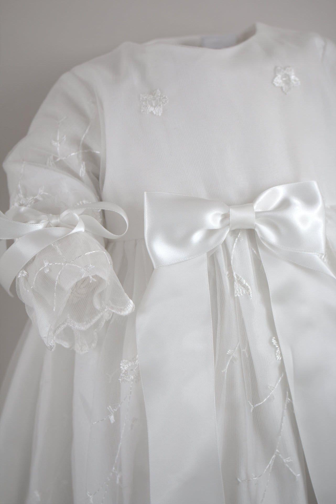 cd137 white bow bf1 | taufkleid, zur taufe, kleider