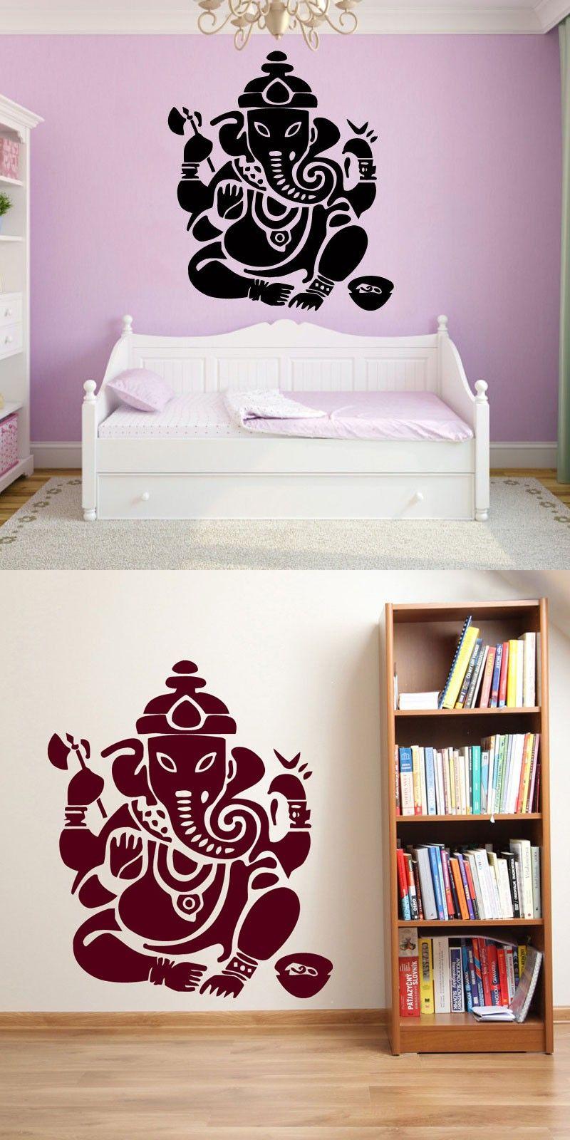 Ganesha Lord Wall Stickers Indian Elephant Modern Home Decor ...