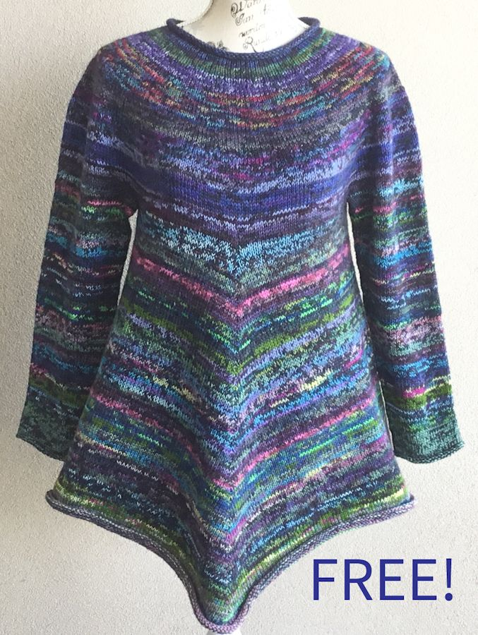 Free Knitting Pattern for Baw Baw Sweater - Great Stashbuster