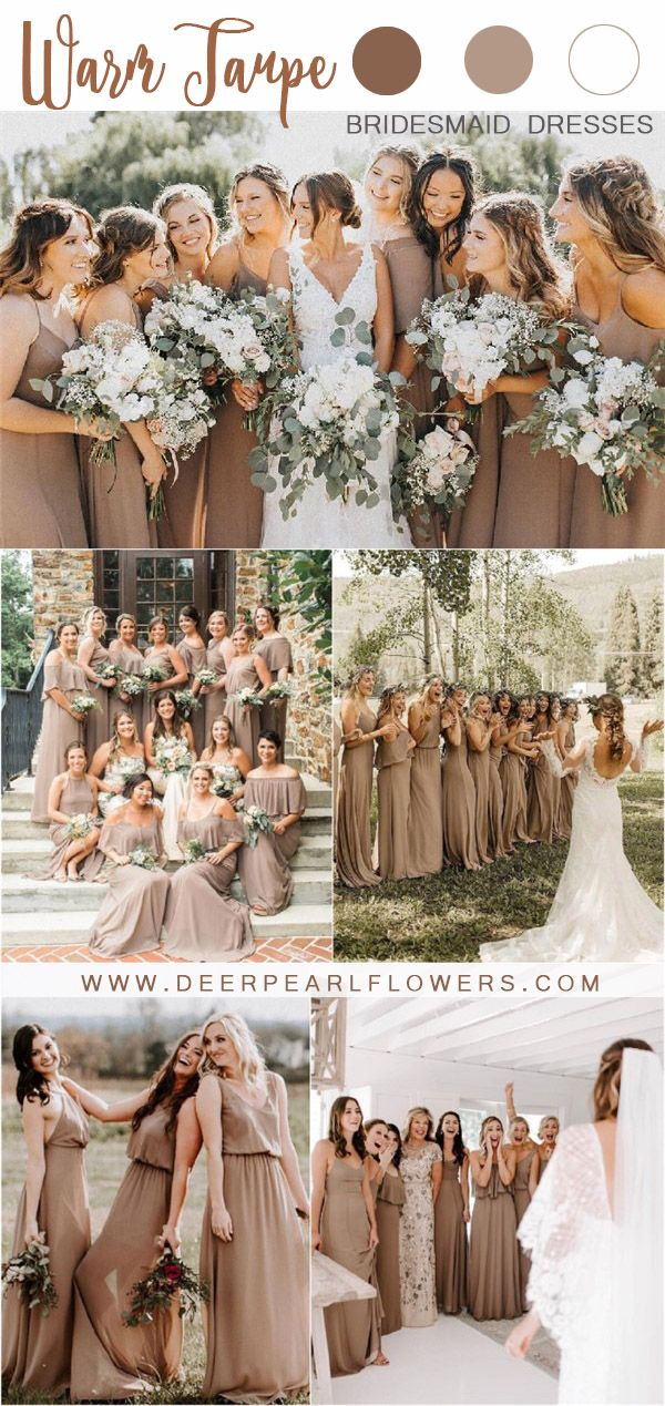 20 Fall Neutral Taupe and Greenery Wedding Color Ideas is part of Taupe wedding colors - Source mumuweddings With the trend of modern weddings steadily becoming more commonplace, it can be nice to revert back to more traditional, approchable styles  Warm Taupe is the perfect color for a hearty, classic,