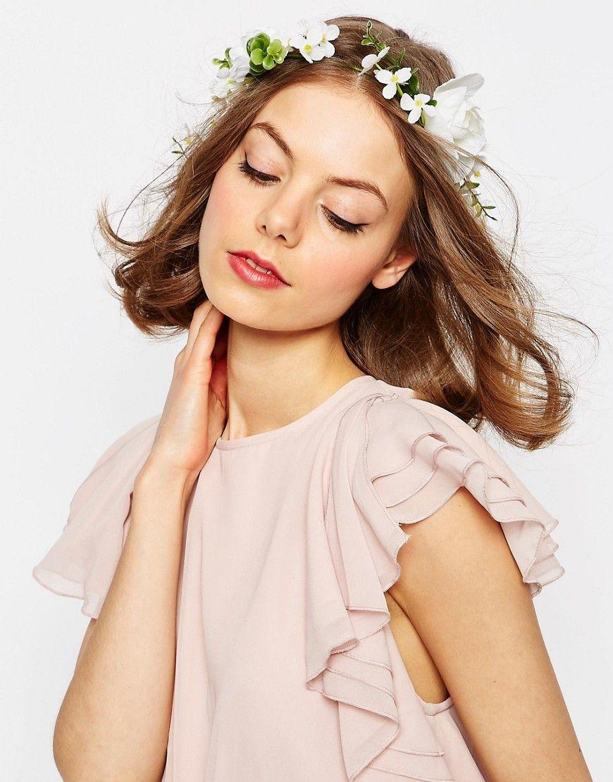 Image 1 , ASOS WEDDING , Bandeau fleurs , Blanc