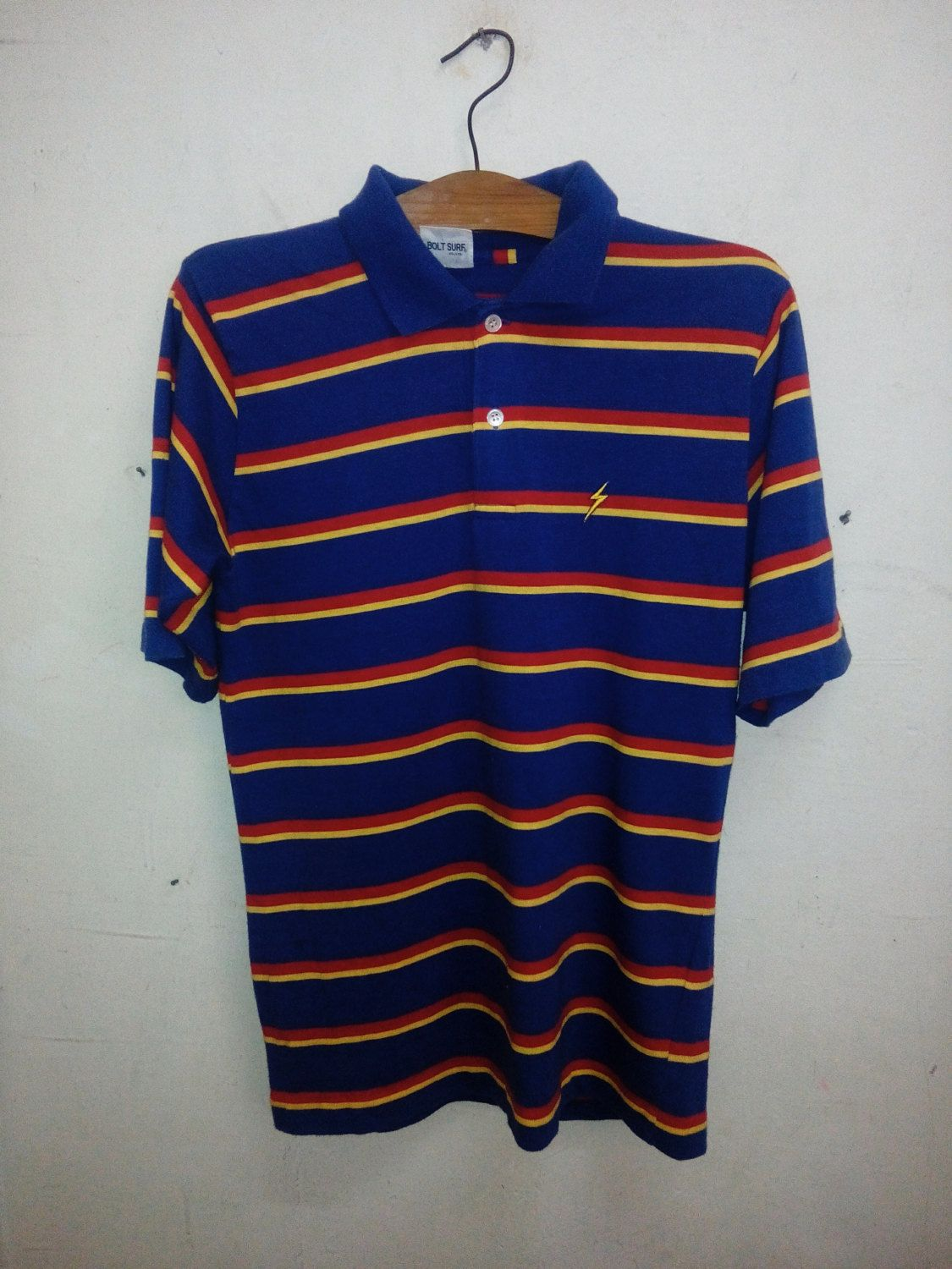 00e268e78fea9 Sale Rare !! Vintage 80's Skate Surf Lightning Bolt Stripes designed ...