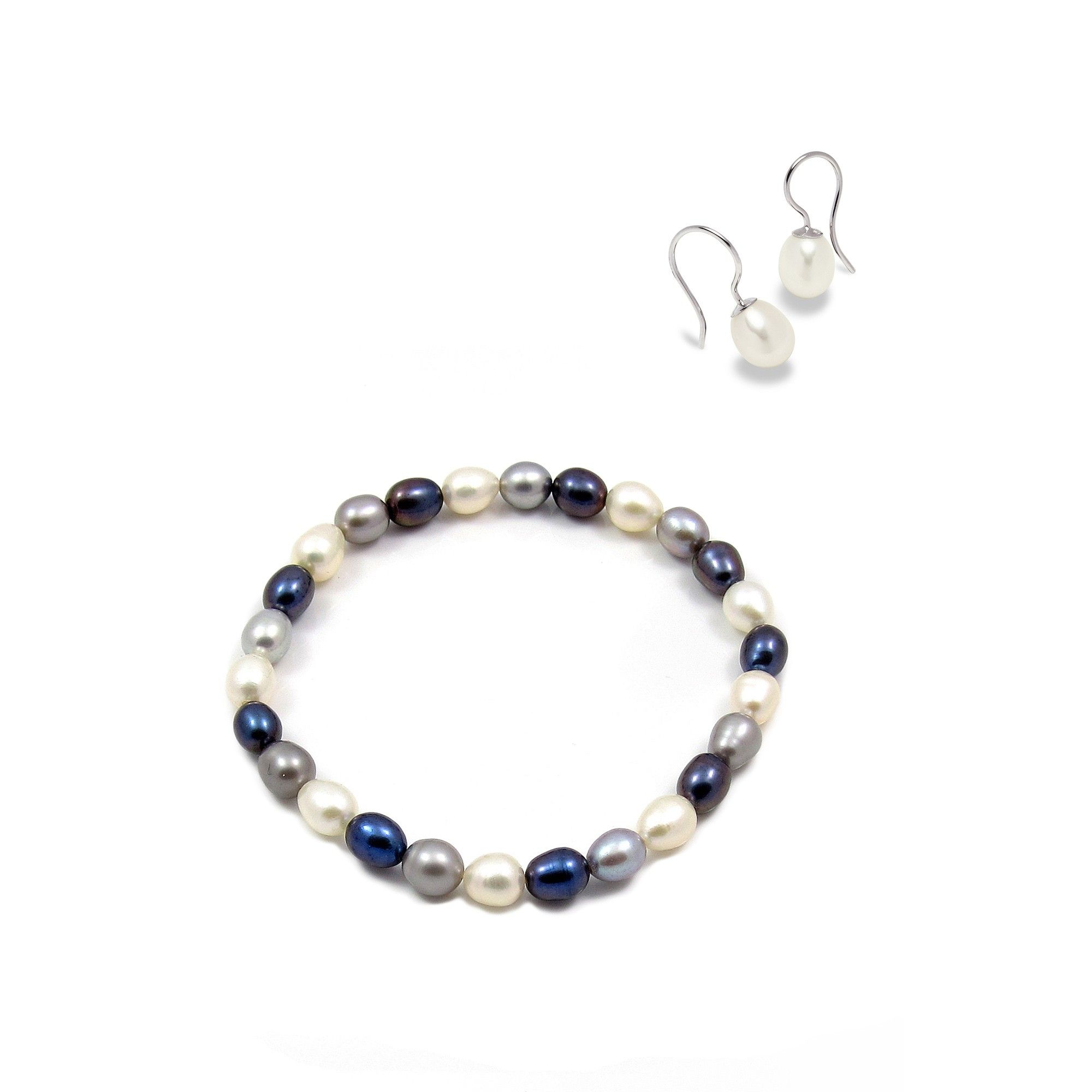 indigo pearls watches free set overstock necklace sterling silver ringed shipping jewelry today product com freshwater earring pearl in bracelets
