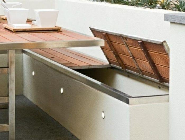 Voici Nos Exemples Pour Un Banc De Jardin. | Storage Ideas, Storage