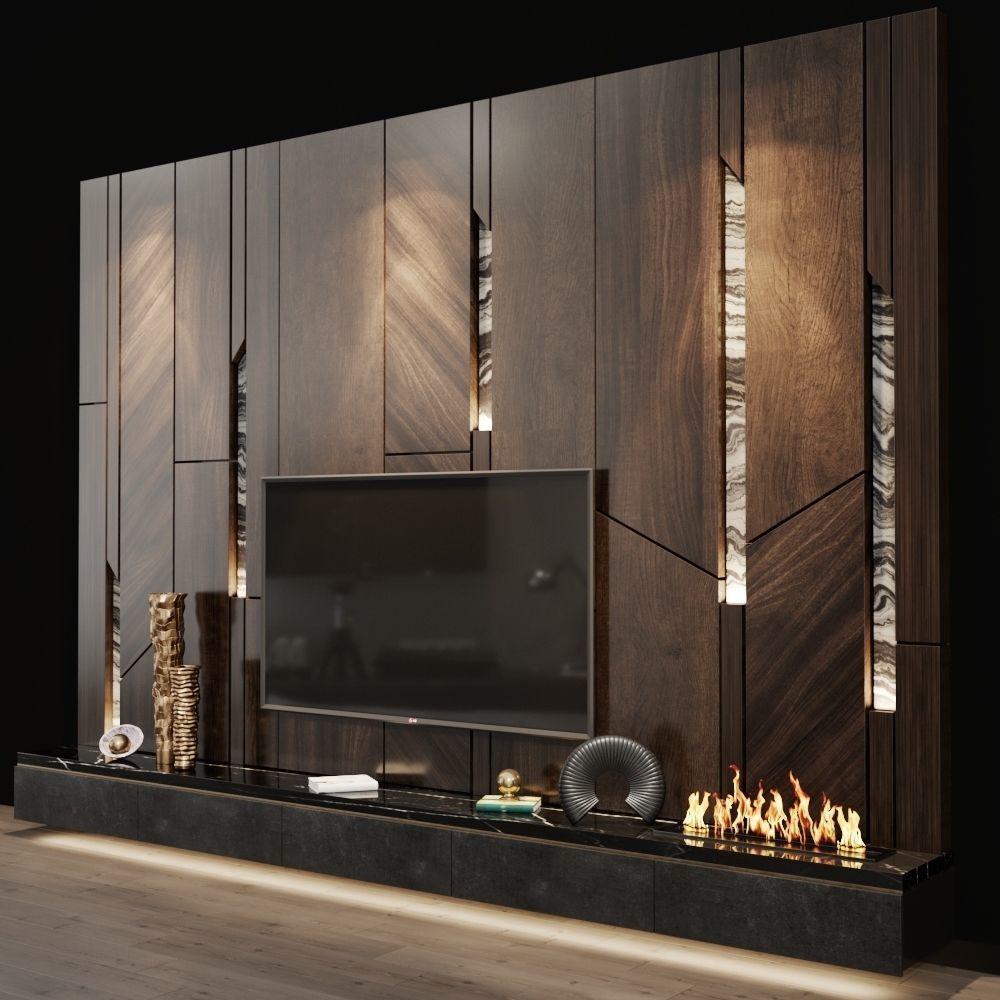 Tv Set 106 3d Model Living Room Tv Unit Designs Wall Tv Unit Design Living Room Wall Designs