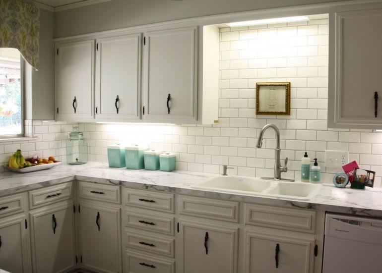 Cocinas pequeñas en forma de L - cincuenta diseños | Azulejos ...