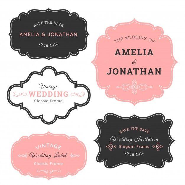 Elegantes marcos de boda vintage Vector Gratis | viNtage | Pinterest ...