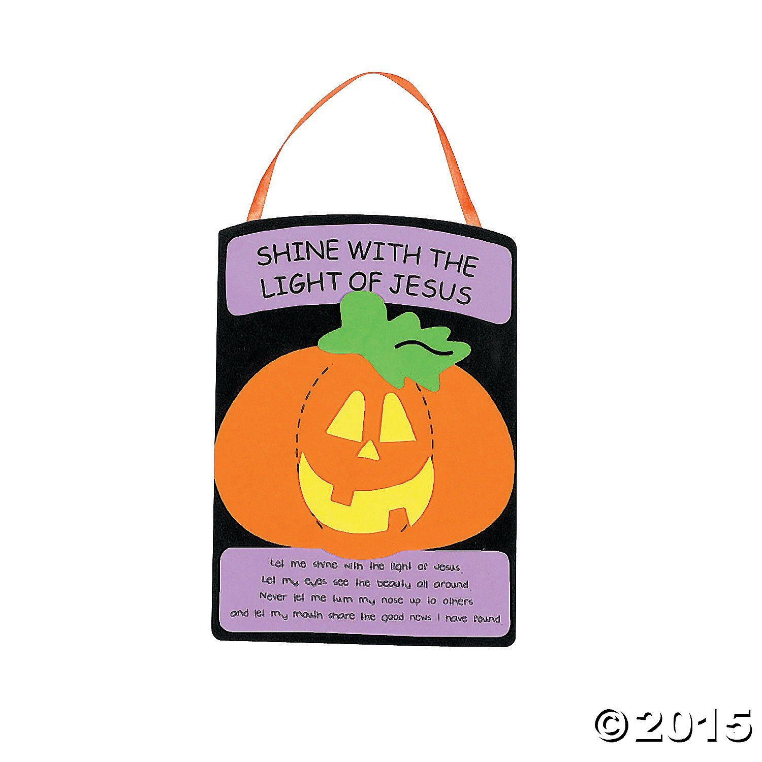 Amazon.com: Christian Pumpkin Craft Kit (Pack of 2): Toys & Games