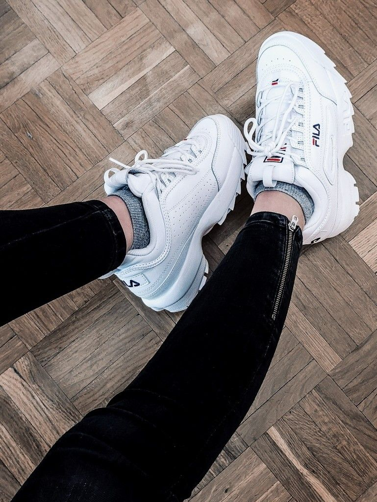 new babies fila disruptor ii  so in love with them with