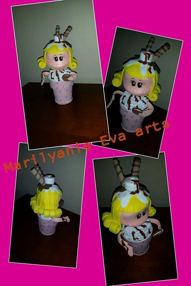 Dulcero cup cake fofucha handmade by  Marilyanis Eva Arts
