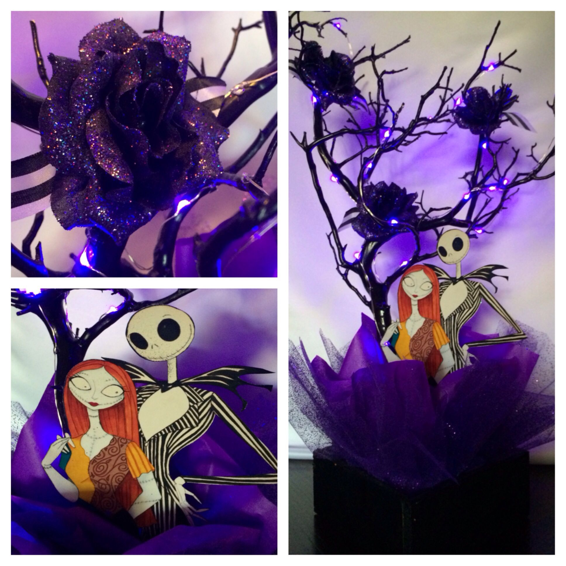 Nightmare Before Christmas Centerpiece By Bizzie Bee Creations By Iris