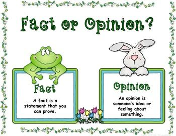 Fact or Opinion: Spring | Fact and opinion, Reading mini lessons ...