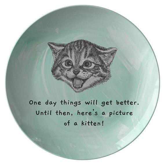 Adorable Kitten Plate