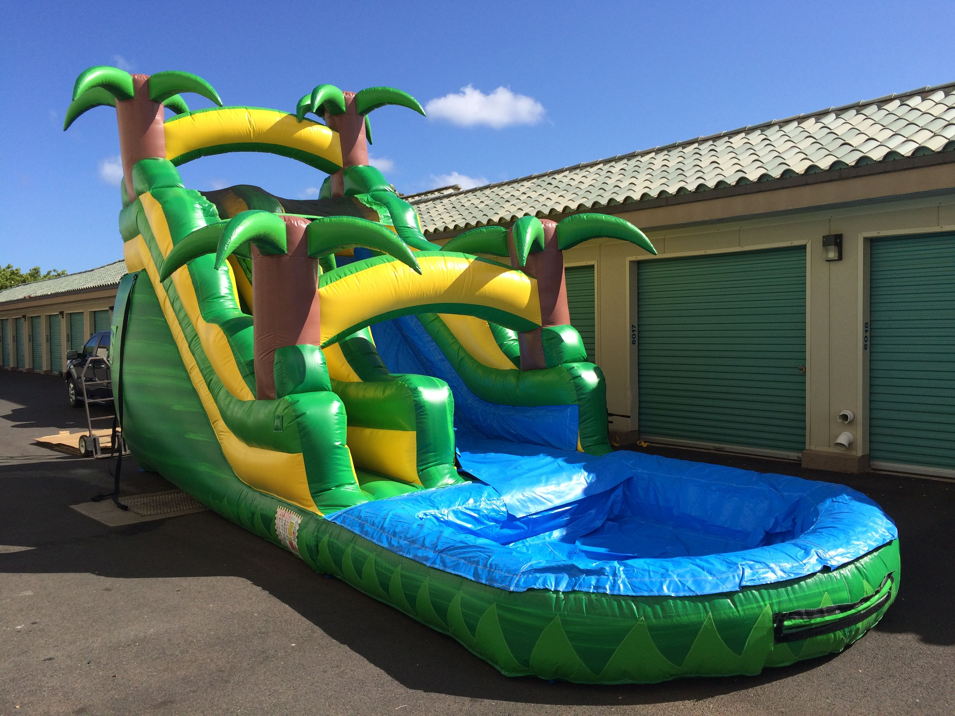 16ft Tropical Water Slide Hi Jump Inflatable Rentals Water Slides Inflatable Rentals Tropical