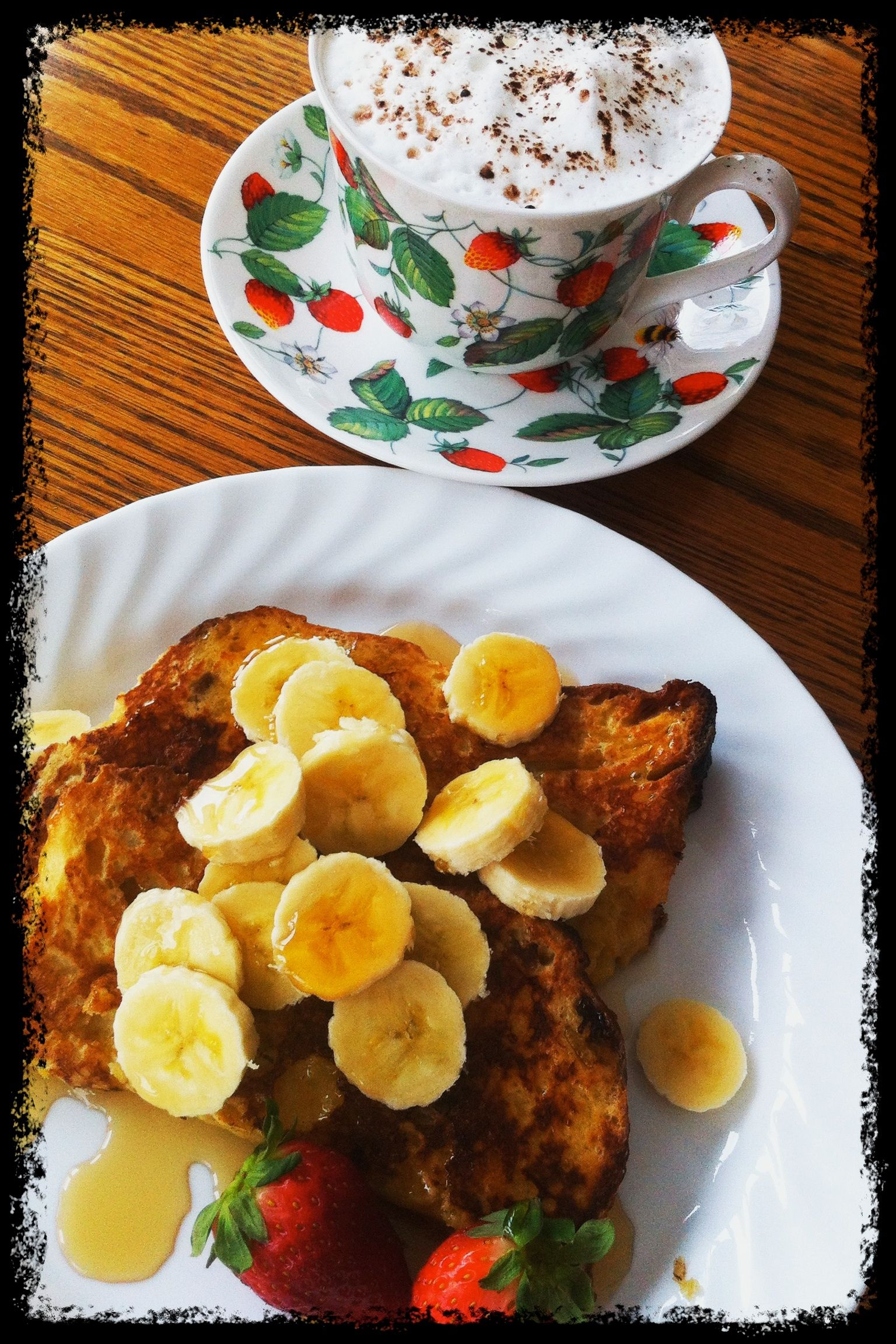 Italian French toast with Canadian maple syrup