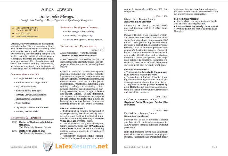 Pin on LaTex Resume