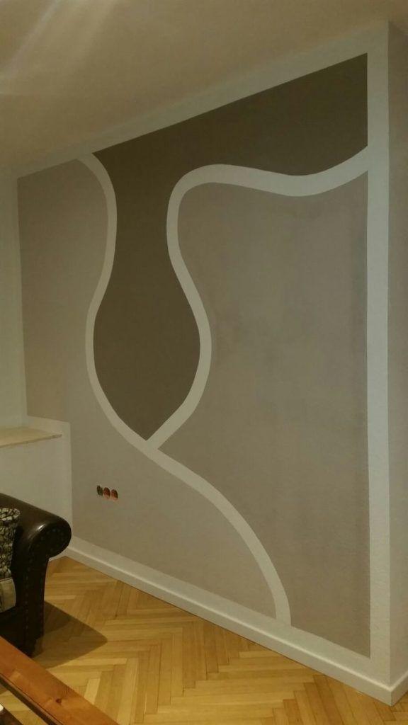 Wohnzimmer Wandgestaltung Muster kleinesWohnzimmer