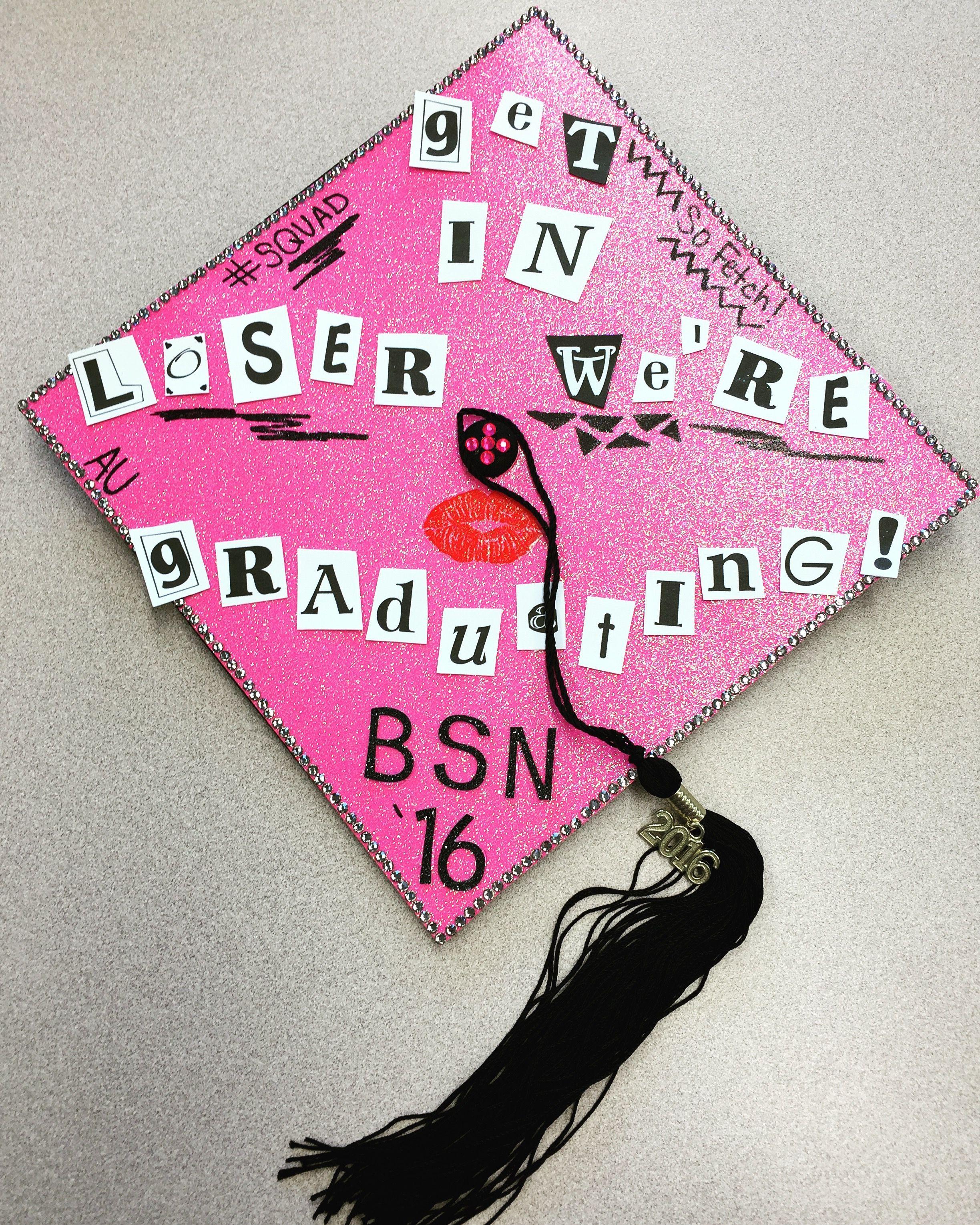 Decorating graduation cap ideas for teachers - Mean Girls Quotes Burn Book Nursing School Graduation Cap