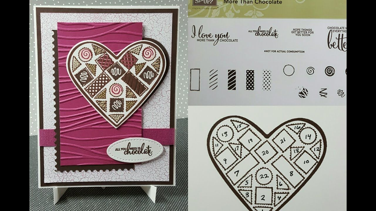 Stampin' Up! More Than Chocolate Card Chocolate card