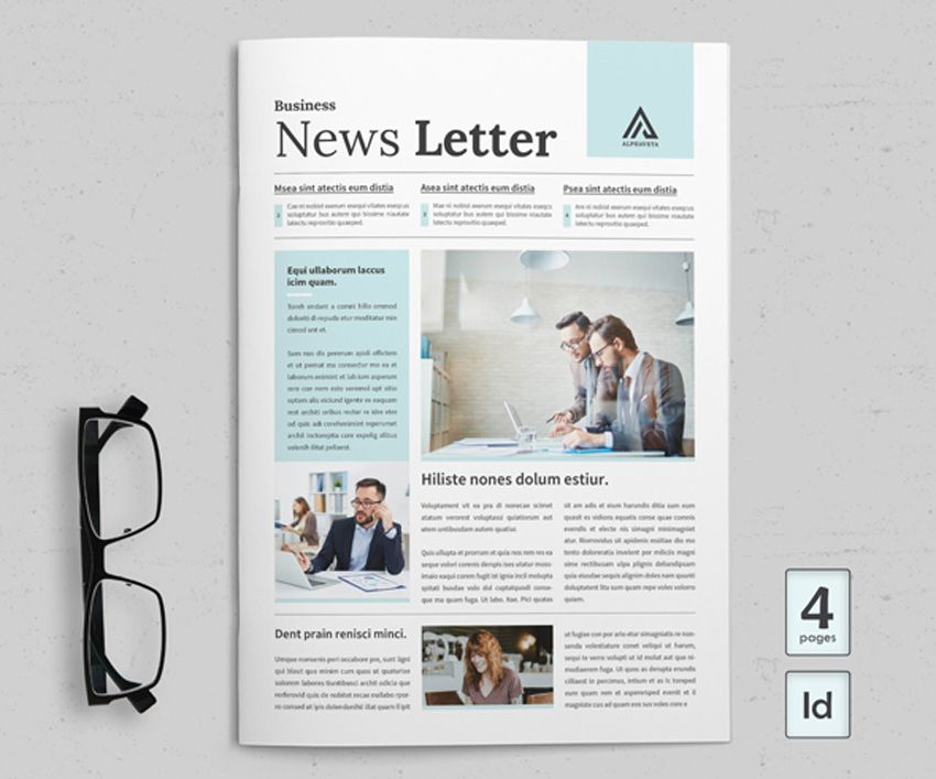 38 Best Indesign Newsletter Templates New For 2020 With Images