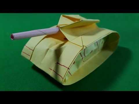 How to Make a Paper Tank - Easy Origami Tank Instructions - YouTube | 360x480