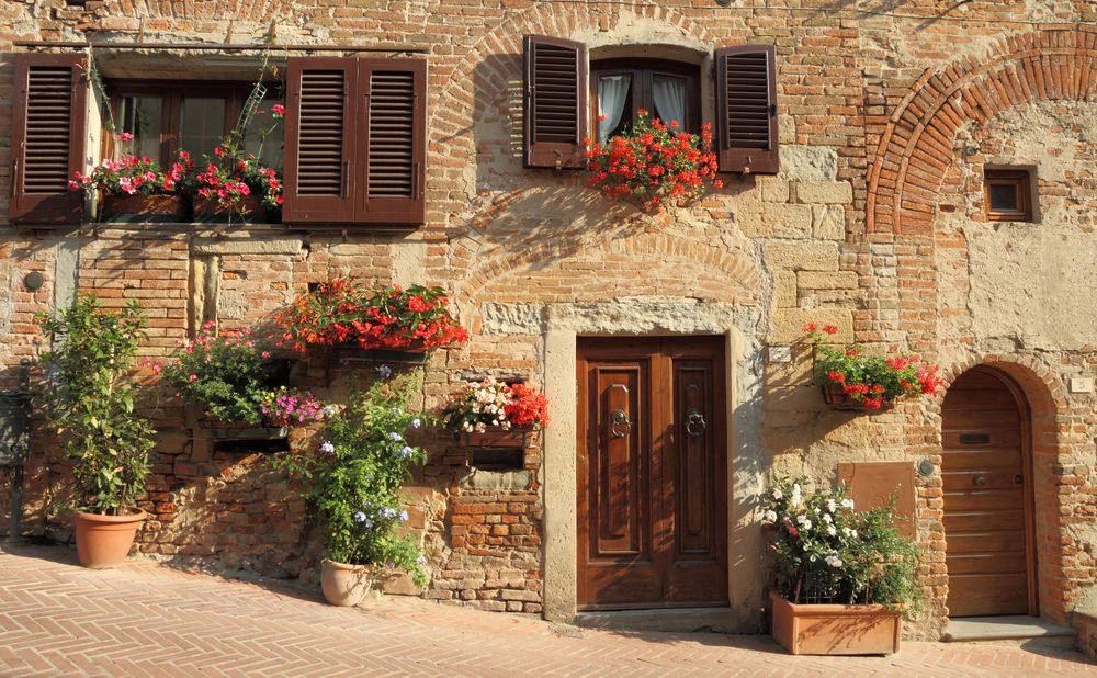 Fachada de casa em certaldo toscana it lia casitas for Fachadas de casas modernas en italia
