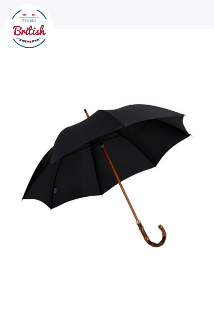 Gents Hickory Solid Stick Umbrella By Ince Umbrellas Stick Umbrella Umbrella Metal Spring