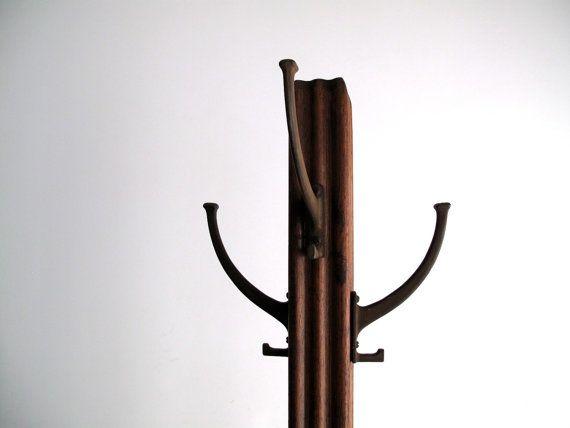 Vintage Mission Style Coat Rack Wood Standing Coat Tree Coat Rack Coat Tree Mission Style
