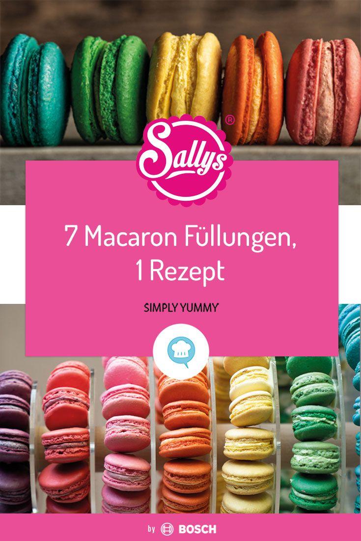 7 Macaron Füllungen im Regelbogen Style